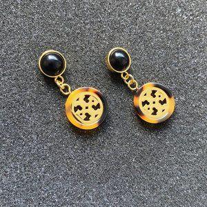 Tory Burch Leopard Print Resin Earrings